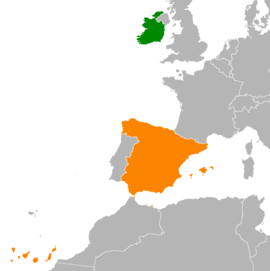 Ireland and Spain Locator